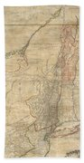1768 Holland  Jeffreys Map Of New York And New Jersey  Beach Towel