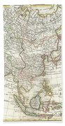 1770 Janvier Map Of Asia Beach Towel
