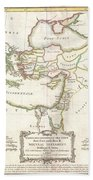 1771 Bonne Map Of The New Testament Lands Holy Land And Jerusalem Beach Towel