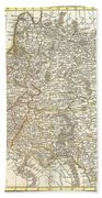 1771 Zannoni Map Of Poland And Lithuania Beach Towel