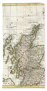 1772 Bonne Map Of Scotland  Beach Towel