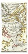 1772 Vaugondy Diderot Map Of Alaska The Pacific Northwest And The Northwest Passage Beach Sheet