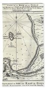 1773 Bellin Map Of The Cape Of Good Hope Capetown South Africa Beach Towel