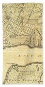 1776 New York City Map Beach Towel