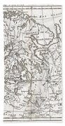 1780 Raynal And Bonne Map Of Northern Europe And European Russia Beach Towel