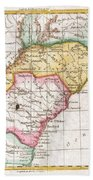 1780 Raynal And Bonne Map Of Southern United States Beach Towel