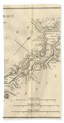 1784 Bocage Map Of The Bosphorus And The City Of Byzantium  Istanbul  Constantinople Beach Towel