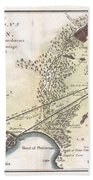 1784 Bocage Map Of The City Of Athens In Ancient Greece Beach Towel