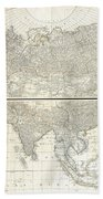 1784 D Anville Wall Map Of Asia Beach Towel