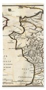 1786 Bocage Map Of Elis And Triphylia In Ancient Greece  Beach Towel