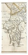 1786 Bocage Map Of Messenia In Ancient Greece Beach Towel