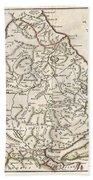 1788 Bocage Map Of Thessaly In Ancient Greece Beach Towel