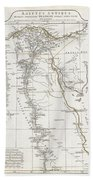 1794 Anville Map Of Ancient Egypt  Beach Towel