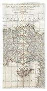 1794 Anville Map Of Asia Minor In Antiquity Beach Towel