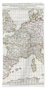 1794 Anville Map Of Europe In Late Roman Times Beach Towel