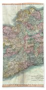 1799 Cary Map Of Ireland  Beach Towel
