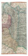 1799 Cary Map Of Poland Prussia And Lithuania  Beach Towel