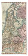 1799 Cary Map Of The Netherlands Beach Towel