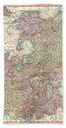 1799 Cary Map Of The Upper And Lower Rhine Beach Towel