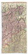 1799 Cary Map Of Tyrol Beach Towel