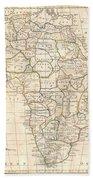 1799 Clement Cruttwell Map Of Africa  Beach Towel
