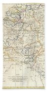 1799 Clement Cruttwell Map Of Belgium Or The Netherlands Beach Towel