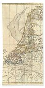 1799 Clement Cruttwell Map Of Holland Or The Netherlands Beach Towel