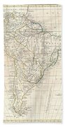 1799 Clement Cruttwell Map Of South America  Beach Towel