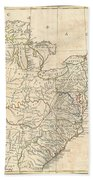 1799 Cruttwell Map Of The United States Of America Beach Towel
