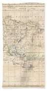 1799 Cruttwell Map Of The World On Mercators Projection Beach Towel