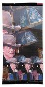 21 Duke's John Wayne Cardboard Cutout Collage Tombstone  Arizona 2004-2009 Beach Towel
