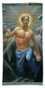 18. Jesus Rises / From The Passion Of Christ - A Gay Vision Beach Towel