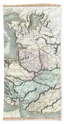 1801 Cary Map Of Persia  Iran Iraq Afghanistan Beach Towel