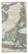 1801 Cary Map Of The East Indies And Southeast Asia  Singapore Borneo Sumatra Java Philippines Beach Towel