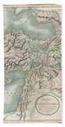 1801 Cary Map Of Turkey Iraq Armenia And Sryia Beach Towel