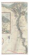 1805 Cary Map Of Egypt Beach Towel