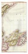 1809 Pinkerton Map Of Korea And Japan Beach Towel