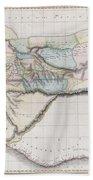 1813 Pinkerton Map Of Western Africa Beach Towel