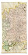1814 Thomson Map Of Bavaria Germany Beach Towel