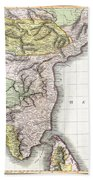 1814 Thomson Map Of India Beach Towel