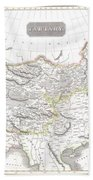 1814 Thomson Map Of Tartary  Mongolia Tibet Beach Towel