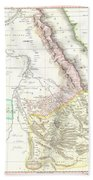 1818 Pinkerton Map Of Abyssinia  Ethiopia  Sudan And Nubia Beach Towel