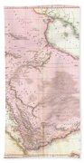 1818 Pinkerton Map Of Arabia And The Persian Gulf Beach Towel