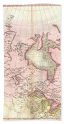 1818 Pinkerton Map Of British North America Or Canada Beach Towel