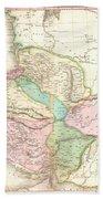 1818 Pinkerton Map Of Persia  Beach Towel