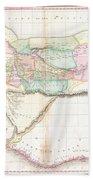 1818 Pinkerton Map Of Western Africa  Beach Towel