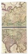 1820 Lizars Wall Map Of Asia Beach Towel