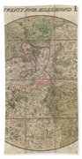 1820 Mogg Pocket Or Case Map Of London Beach Towel