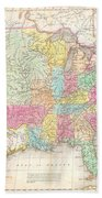 1823 Melish Map Of The United States Of America Beach Towel