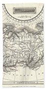 1826 Assheton Map Of Russia In Asia Beach Towel